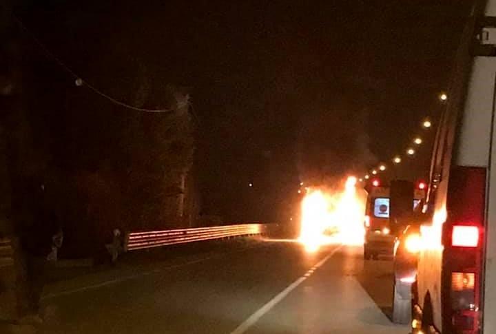 Incendio Auto Vigonza-2