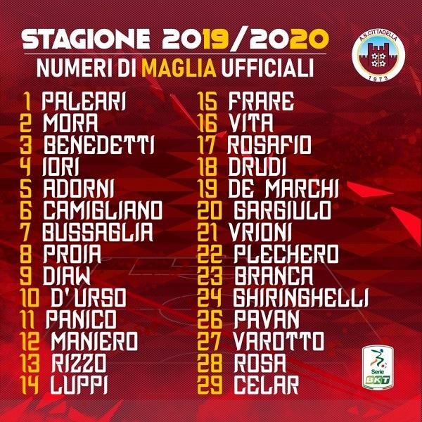 Numeri Maglia Cittadella-2