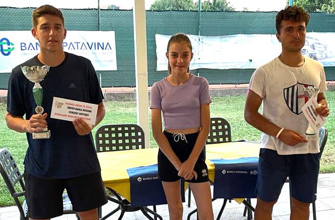 Open Banca Patavina Este premiazione dal Zotto winner Latanà (Sat Este) De Rosa finalista-2