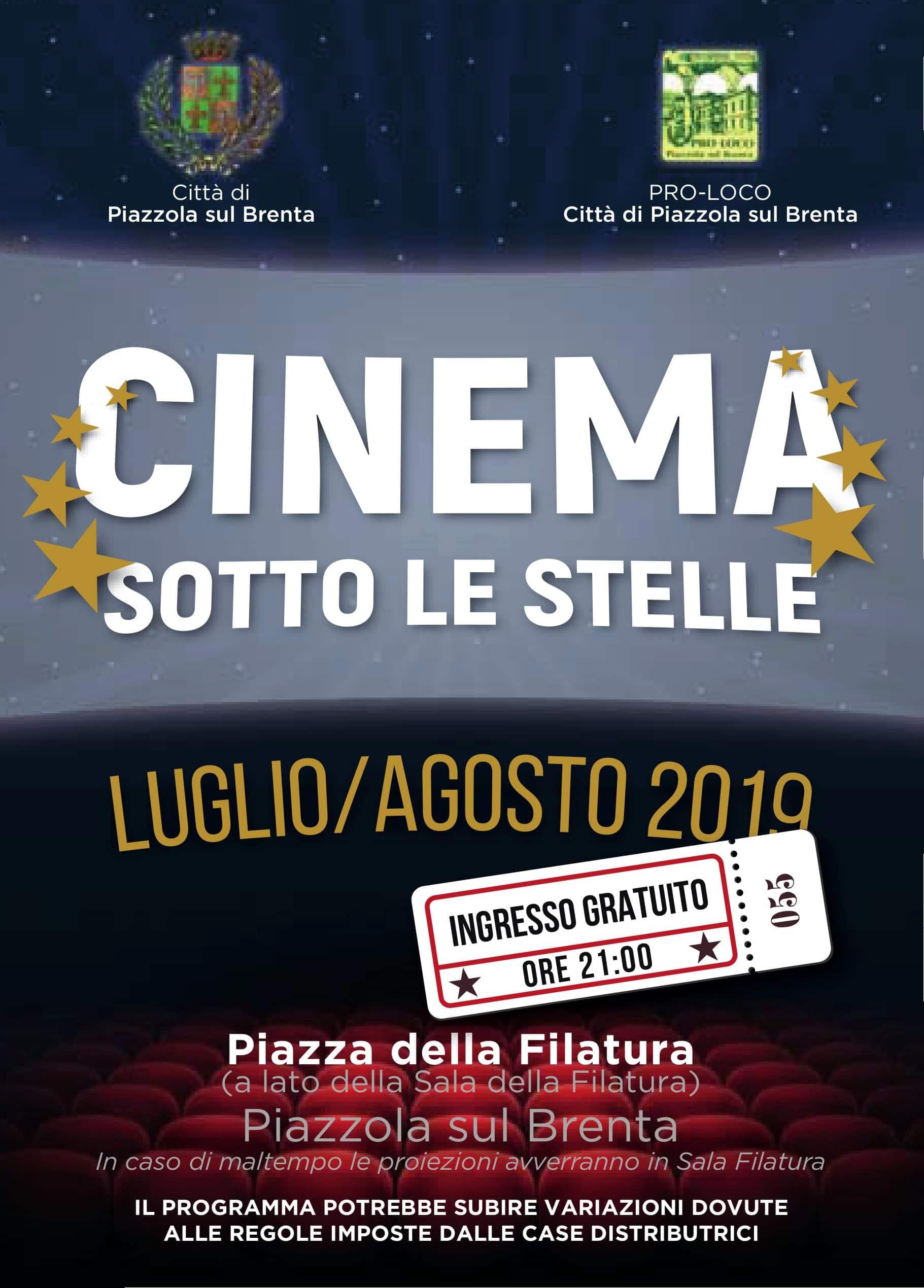 Calendario Cinema Petrarca.Cinema Sotto Le Stelle Tutte Le Proiezioni A Piazzola Sul