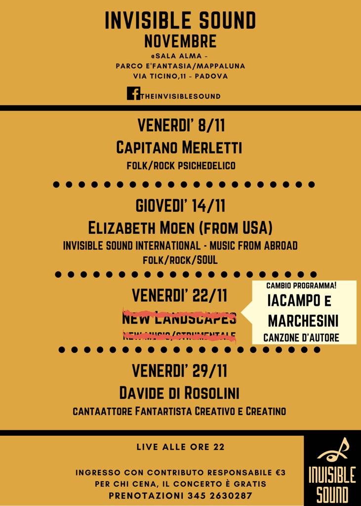 Iacampo e Marchesini live per Invisible Sound al Parco È