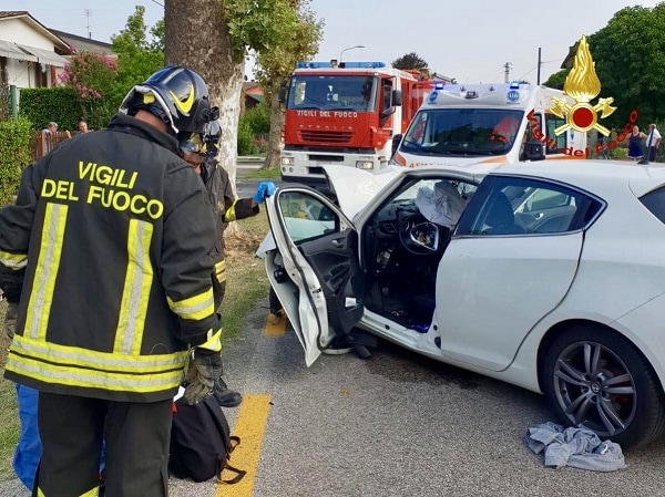 Incidente auto conselve 3-2-2