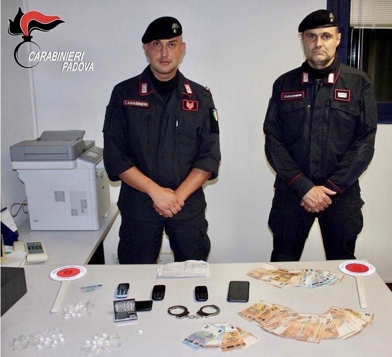 Arresto spaccio cocaina Mestrino 2-2-2
