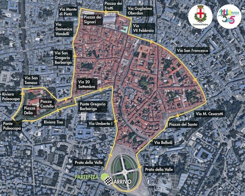La 5 alle 5 Padova_cartina percorso_b-2