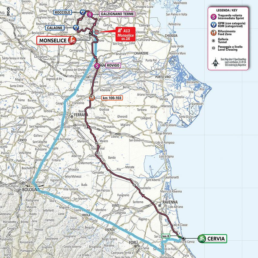 Cartina Dell Italia Rovigo.Il Giro D Italia Arriva A Monselice Strade Chiuse Dalle 13 Dodici I Comuni Interessati
