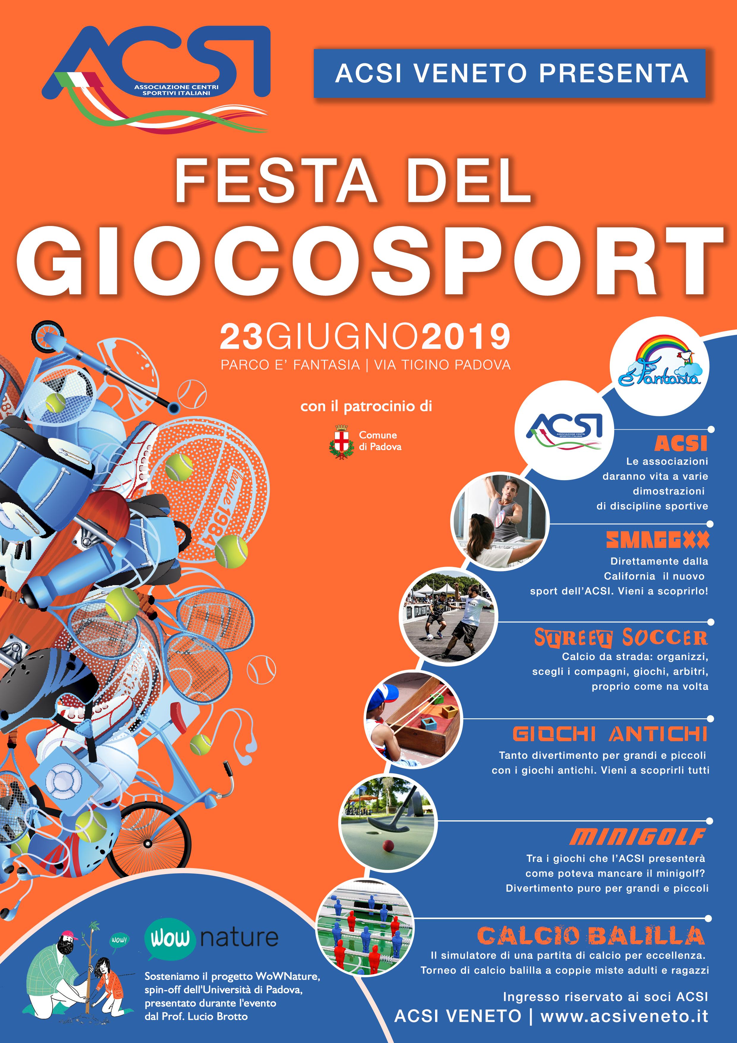 ACSI - FESTA DEL GIOCO SPORT 23-06-19-2