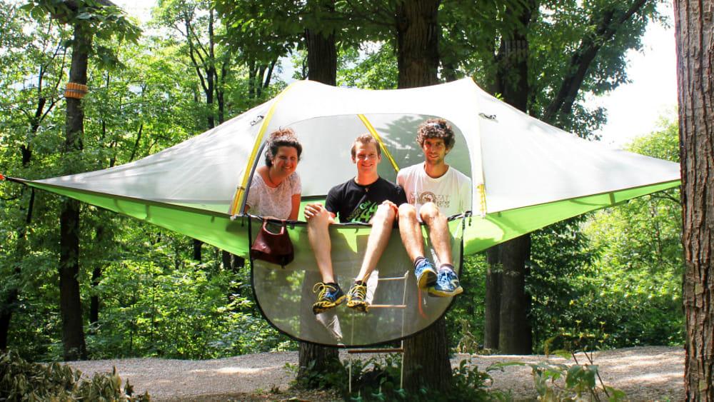 A perdifiato in tenda sospesa-2