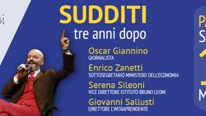 Sudditi, tre anni dopo. Con Giannino, Zanetti, Sileoni, Sallusti-5