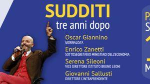 Sudditi, tre anni dopo. Con Giannino, Zanetti, Sileoni, Sallusti-4