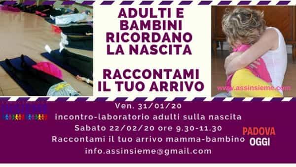 A Padova un laboratorio per gli adulti sulla nascita