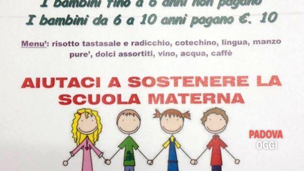 Cena di solidarietà per la scuola materna di Teolo