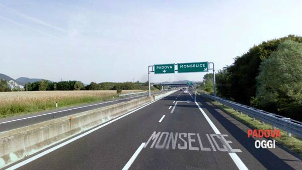 Incidente e code in autostrada A13 tra Monselice e Boara Pisani