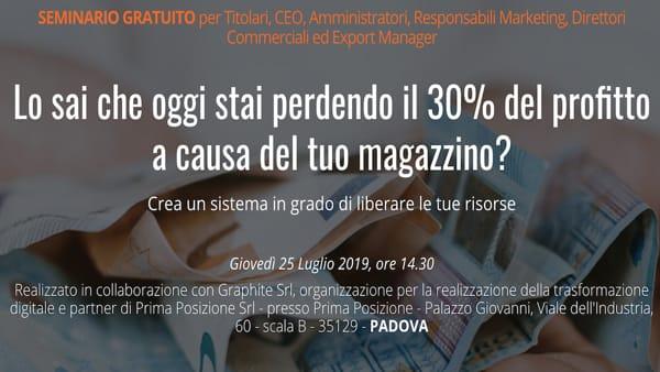 A Padova un seminario gratuito per migliorare la gestione del proprio magazzino