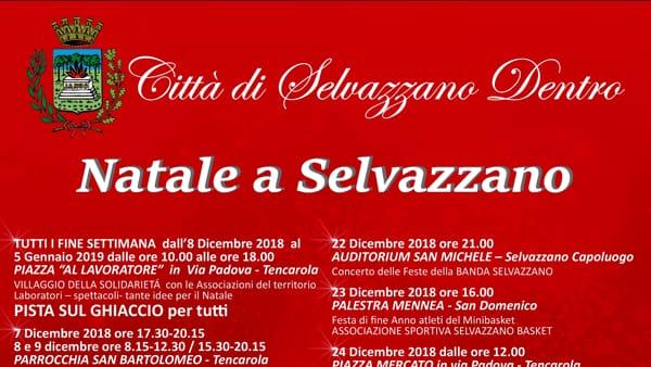Natale a Selvazzano Dentro, tutti gli eventi in programma