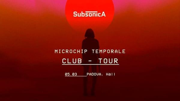 """Subsonica """"Microchip temporale club tour"""" allo Hall di Padova"""