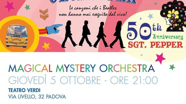 Magical Mystery Orchestra, concerto beatlesiano al Teatro Verdi