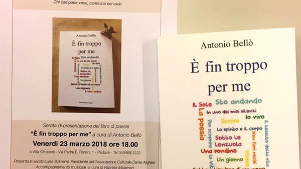 """""""È fin troppo per me"""", presentazione del libro di poesie a Villa Ottoboni"""