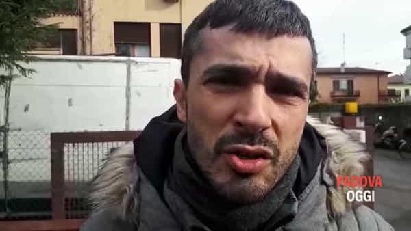 Il consigliere Alain Luciani sul luogo dell'omicidio all'Arcella