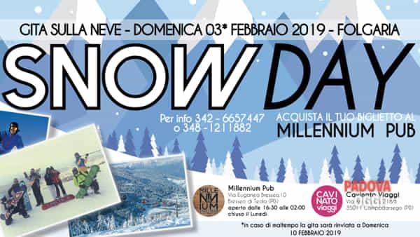 Snow day, gita sulla neve Teolo-Folgaria