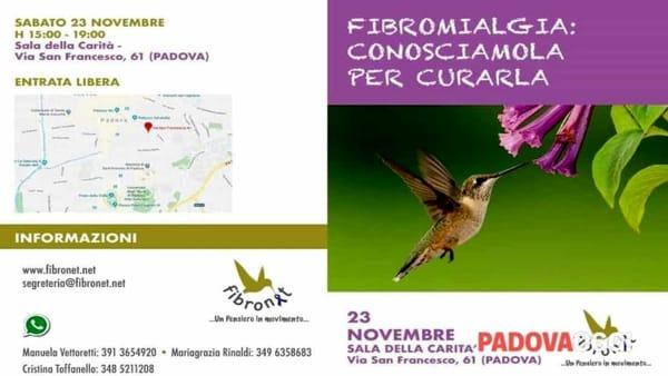 """A Padova l'incontro """"Fibromialgia: conoscerla per curarla"""""""