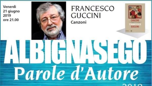 """""""Parole d'autore"""" ad Albignasego con Francesco Guccini che presenta """"Canzoni"""""""
