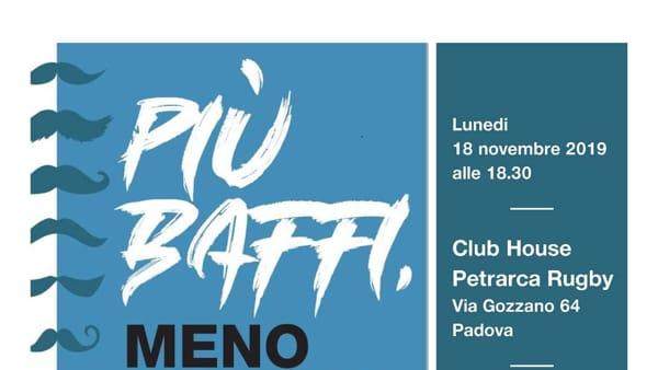 """""""Più baffi, meno tumori"""", aperitivo a sostegno della ricerca del VIMM alla Club house Petrarca"""