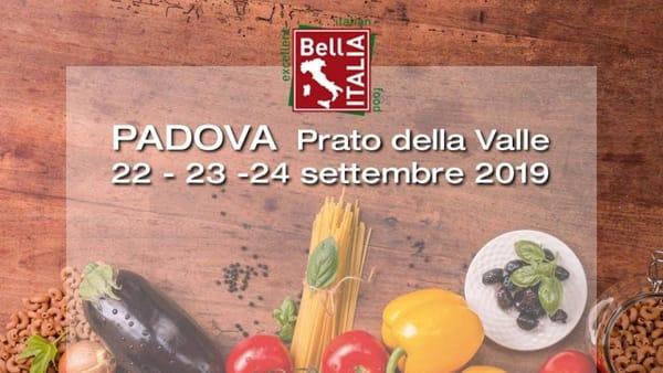 Bell'Italia 2019: degustazioni e vendita di prodotti tipici enogastronomici in Prato della Valle