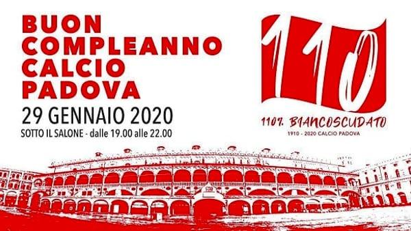 """""""Buon compleanno Calcio Padova"""": tutti gli eventi in città per festeggiare i biancoscusati"""