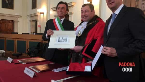 Oxford - Padova, la firma che sancisce il gemellaggio