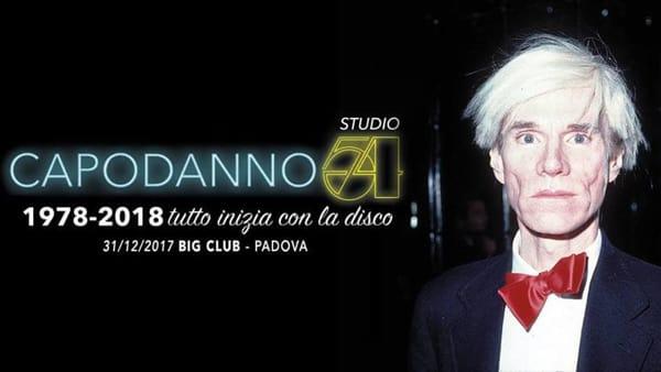"""""""Capodanno Studio 54 / 1978-2018 Tutto inizia con la Disco"""" il capodanno al Big Club"""