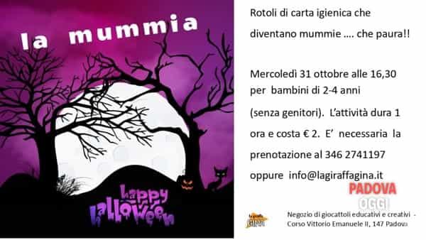 """""""La mummia di Halloween"""", giocolaboratorio per bambini al negozio """"La giraffa Gina"""""""