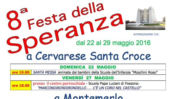 Festa della Speranza a Cervarese Santa Croce
