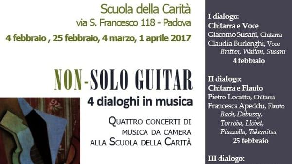 """Non-solo guitar """"Dialogo II: chitarra e flauto"""" alla Scuola della Carità"""