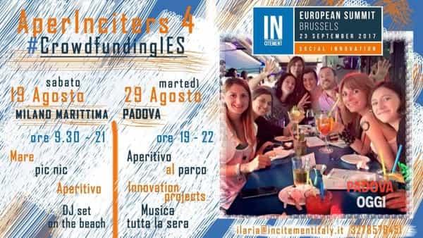 """""""Aperinciters"""", incontro- aperitivo di networking per giovani imprenditori sociali al Fistomba Social Park"""