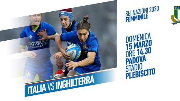 Sei Nazioni femminile: Italia vs Inghilterra al Plebiscito
