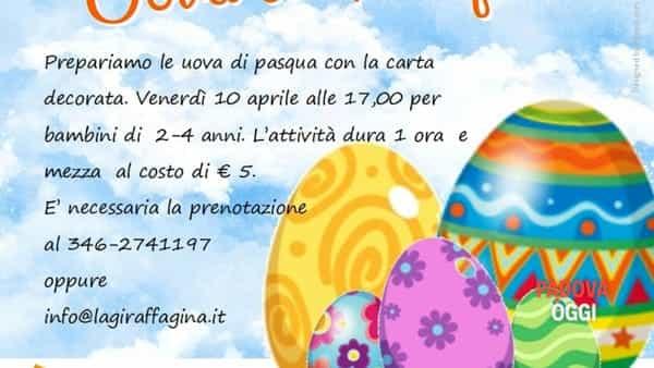 """""""Uova di Pasqua"""", laboratorio creativo presso la giraffa Gina"""