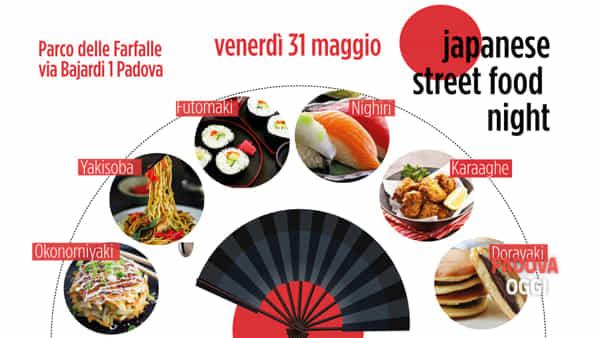 Japanese street food night al Parco delle Farfalle di Padova