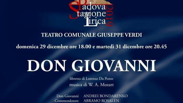 """Stagione lirica 2019: """"Don Giovanni"""" di W. A. Mozart al teatro Verdi"""