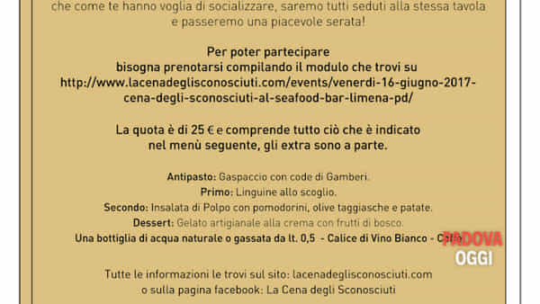 """""""la cena degli sconosciuti"""" al seafood bar di limena - padova-4"""