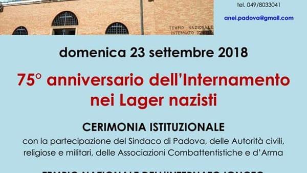 75esimo anniversario dell'Internamento, cerimonia di commemorazione a Padova