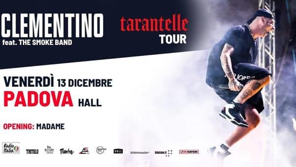 Clementino in concerto all'Hall di Padova