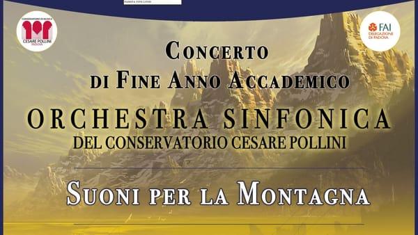 """""""Suoni per la montagna"""": concerto di fine anno e raccolta fondi all'auditorium Pollini"""