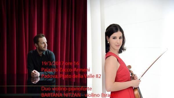 I concerti dell'Agimus di Padova, duo violino-pianoforte a Palazzo Zacco