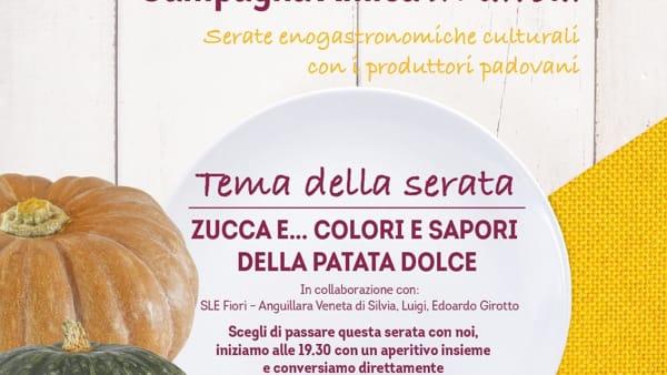 """Incontri tra cultura ed enogastronomia """"La zucca e la patata dolce"""" al ristorante """"N'altraroba"""" di Rubano"""