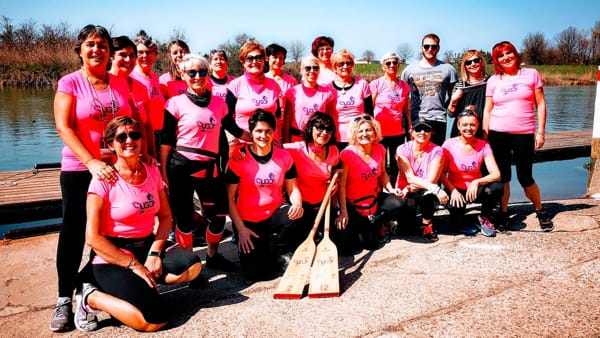 Incontro ed escursione in Dragon Boat con le donne operate di tumore al seno a Padova