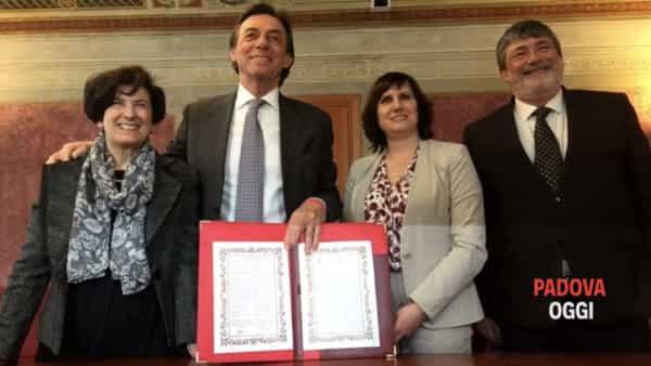 Padova capitale europea volontariato: la firma
