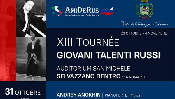 Tournée dei giovani talenti russi in concerto all'auditorium San Michele di Selvazzano