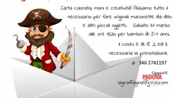 """""""Origami...primi passi"""", giocolaboratorio per bambini al negozio La giraffa Gina"""