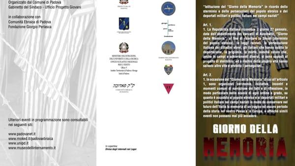 Giorno della memoria 2020, tutte le iniziative Padova