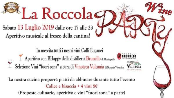 """""""Wine party"""", l'aperitivo musicale al fresco della cantina a La Roccola"""